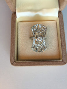 Antique ring with diamonds.