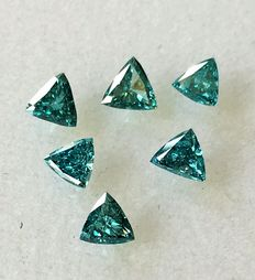 Lot of 6 Natural diamonds ct. 1.07