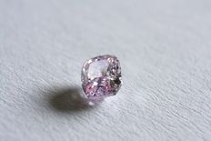 Diamant - 0,21 ct - Fancy roze - Cushion geslepen - VS1 - IGI