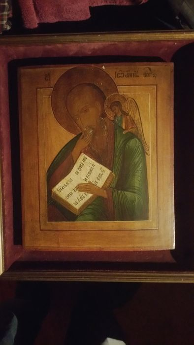 Ancient and original 18th century  Icon of John the Theologian