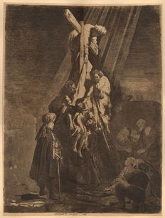 Rembrandt Harmensz. van Rijn (1606-1669) - The Descent from the Cross, Second Plate - 1633