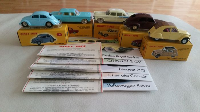 Dinky Toys Atlas Replica Scale 1 43 Lot With 5 Models