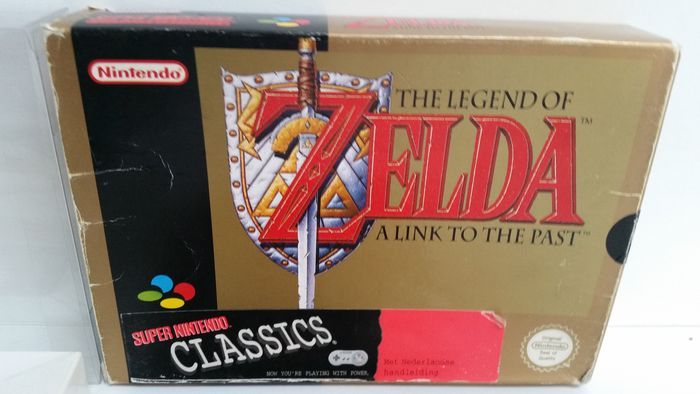 SNES game - The Legend of Zelda - a Link to the Past - in box with