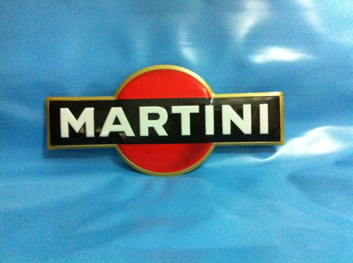 Martini - Varnished metal sign - 80s