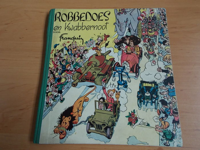 Robbedoes en Kwabbernoot 1 - hc with cloth spine - 1st edition - (1949)