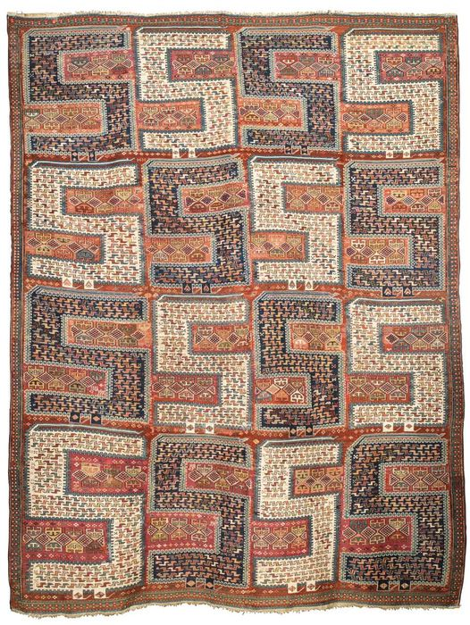 Sileh carpet measuring 295 x 225 cm.