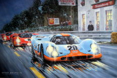 """Moving Picture"" Steve McQueen - Porsche 917 KH Film Le Mans - Artist proof  Digital print on Arches paper 300gr"