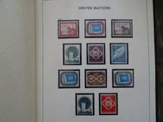 United Nations - Batch with many blocks of 4 + over 10,000 stamps in the world