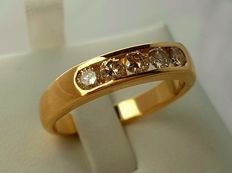 Gold men's ring.