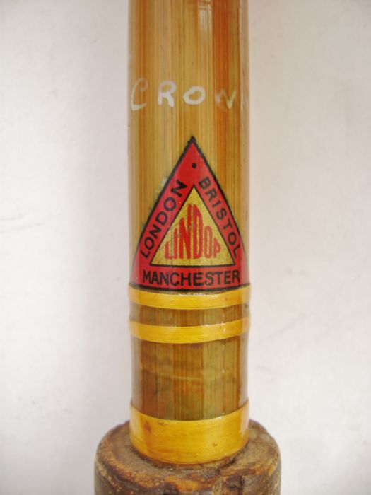 UNDOP, model Crown - A 3-piece vintage 8FT Bamboo & Spilt Cane fishing rod - 1st half 20th Century