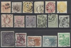 Austria 1850/1920 - Lot of stamps from the empire and first republic