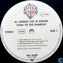 Vinyl records and CDs - Jarreau, Al - Look to the Rainbow: Live in Europe