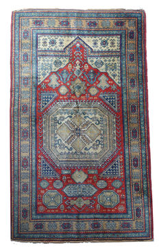 Old Caucasian KAZAK from 1930s, 167 x 98 cm (approx. 5.4 by 3.2 feet)