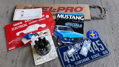 Ford Mustang 1966 - Maintenance parts, documentation, supplies, manuals, 2 blank keys, USA license plate 1966