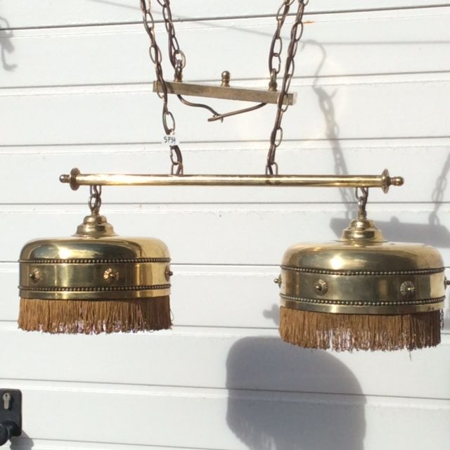 pair of brass lamps for lighting either a billiard table or for a reading table belgium. Black Bedroom Furniture Sets. Home Design Ideas