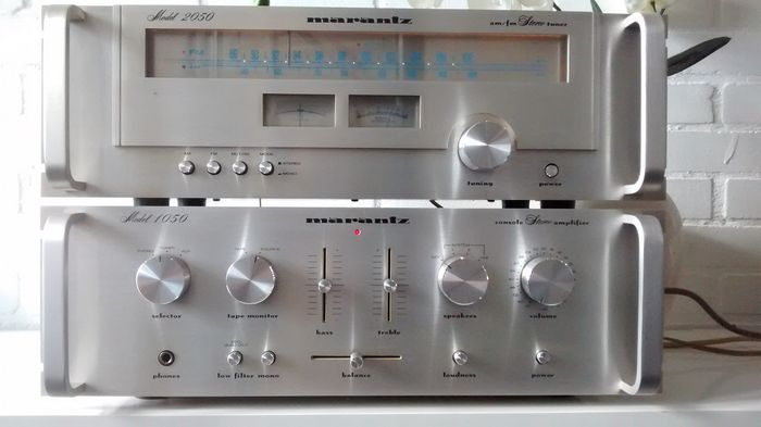 Uitgelezene Marantz 1050 amplifier and Marantz 2050 tuner - Catawiki WP-94