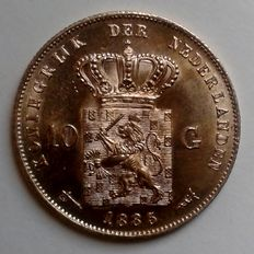 The Netherlands  - 10 guilders 1885 Willem the Third