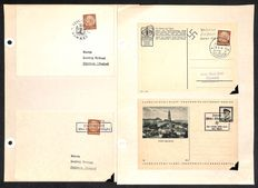 German Empire/Reich 1938 - Sudetenland occupation Postal cards with Liberation stamps