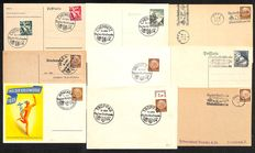 "German Empire/Reich 1941/1942 - postcards and letters to the ""stamp day"" in an album."