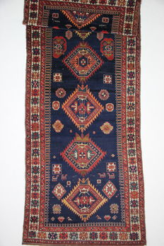 Exceptional, antique Kazak, +/- 1900, Russian, 7.46 m², collectable, numbered in Arabic 1338