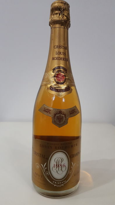 1986 louis roederer cristal brut millesime champagne 1 bottle catawiki. Black Bedroom Furniture Sets. Home Design Ideas