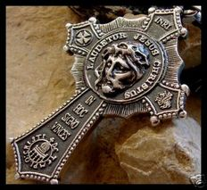 AJS Collection - Sterling Silver 925 two sided Jesus cross - 6 cm