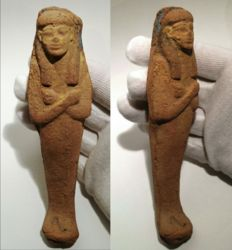 Ancient egyptian terracotta Shabti / Ushabti - 16,5 cm