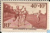 Postage Stamps - France [FRA] - Sports for PTT officers