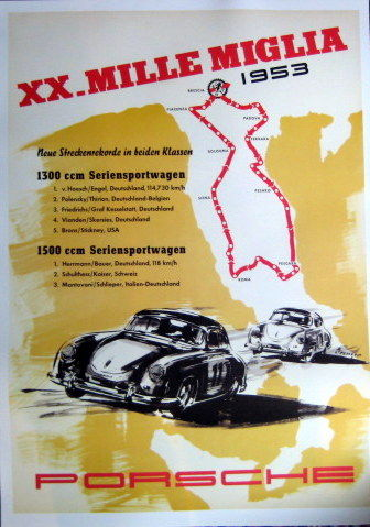 Decorative object - Porsche XX.Mille Miglia 1300/1500 Seriensportwagen - 1953 (1 items)