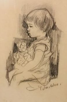 Paul Smolders (1921-1997) - Child with doll