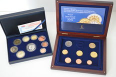 Spain and Portugal, year set 2002 (proof), including Spanish 12 euro coin
