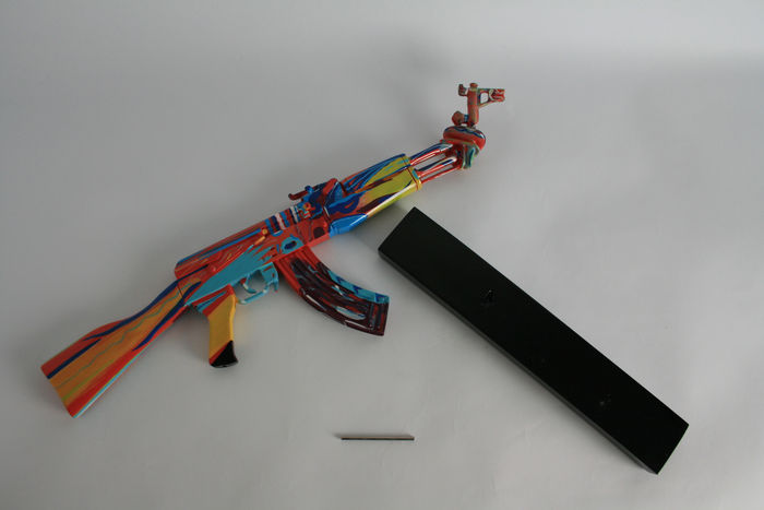 Ray coster ak 47 peace edition color catawiki for Ak 47 coloring pages
