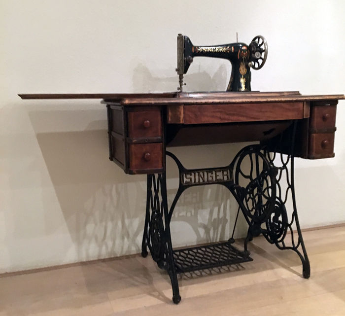 Singer Sewing Machine Model 40k Wood And Wrought Iron Ca40 Stunning 1921 Singer Sewing Machine