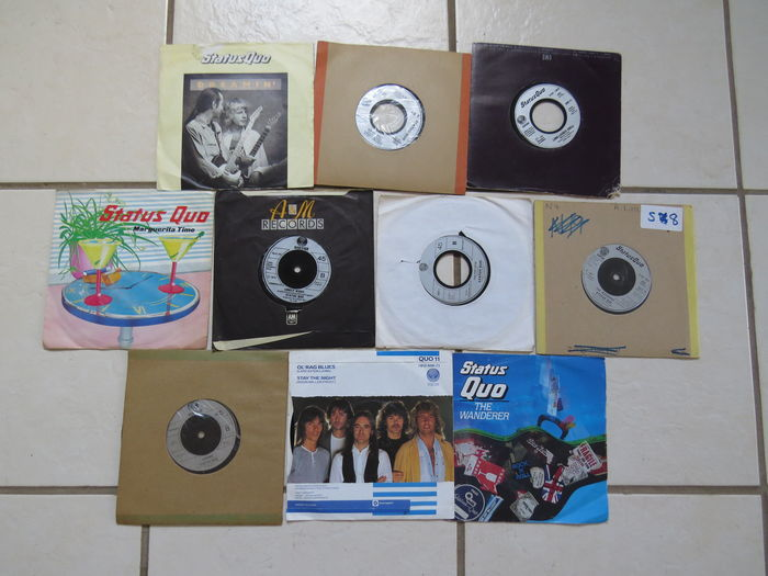 "Status Quo  Lot of 10 singles Records, All 45rpm 7"" vinyls."
