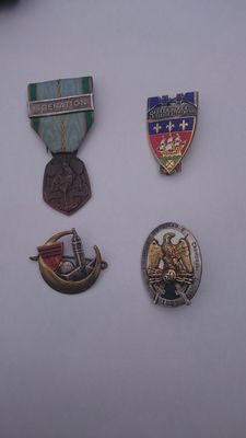 Lot of military medals and badges