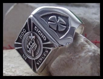 A.J.S. Christianity Knights Templar - 925 Silver - Ring