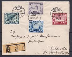 Austria 1933 - Set FIS I on Reco-letter neatly cancelled - ANK 551-554