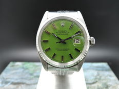 Rolex Datejust 1601 green dial – Unisex watch – 1970