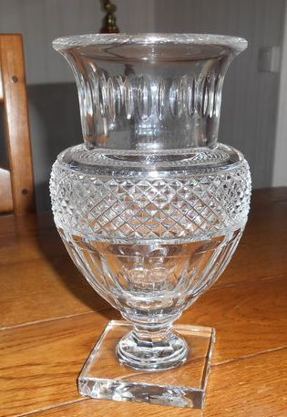 Baccarat cut crystal vase in Empire style, France, second half of 20th ...
