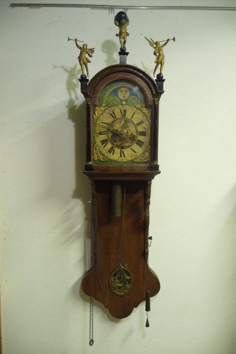 Frisian wall mounted grandfather clock circa 1870 catawiki - Wall mounted grandfather clock ...
