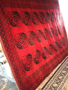 Afghan! Oriental carpet / carpet 100% hand-knotted, perfect condition