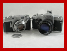 2 Japanese Konica cameras [the III MXL and the Auto - reflex]