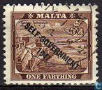 Postage Stamps - Malta - Imprinted SELF GOVERNMENT