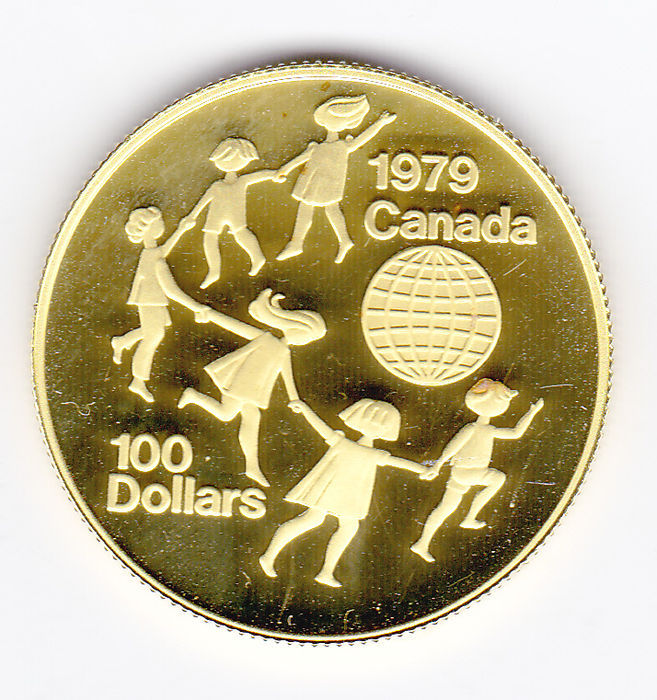 Canada 100 dollars 1979 quot international year of the child quot gold