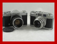 2 Japanese cameras, the Aires 35 IIIa and the Kowa SET