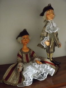 "Ceramic figurines made and hand painted ""Madame et Monsieur of the 18th century"""