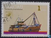 "International Stamp Exhibition ""Italia '85"" - Rome, Italy - Cargo Boats"
