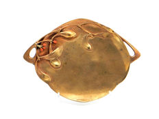 Vallot & Méroz - gold-plated bronze dish for business cards