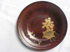 Lacquered wooden plate - Japan - early 20th century