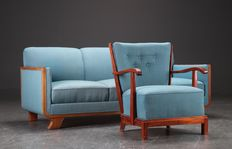 Frits Schleger for Fritz Hansen - rare sofa and armchair
